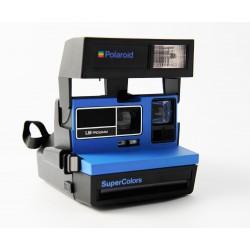 Location de Polaroid 600 Supercolors bleu appareil photo instantané