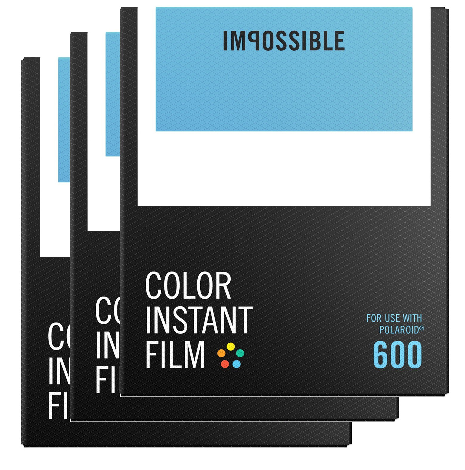 color film for polaroid 600 type cameras frame single - Color Mask Chatain Clair